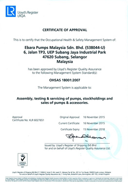EPM Awarded OHSAS 18001:2007 Certification